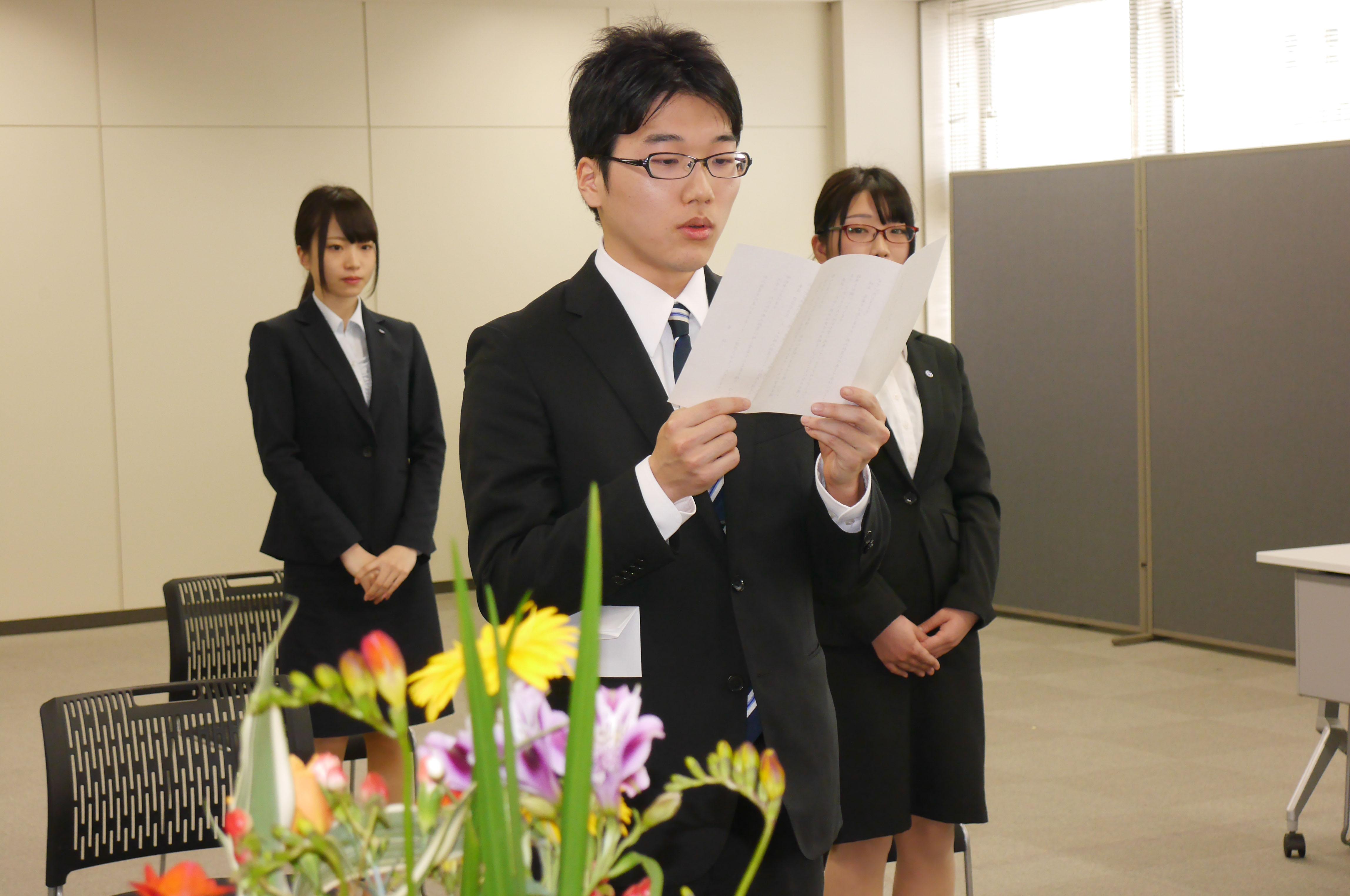 平成28年 入社式!!の画像